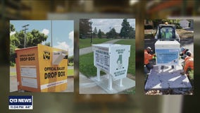 Locally designed ballot boxes collecting votes across the country