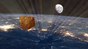 Chicken nugget launched into space to celebrate supermarket chain's 50th anniversary