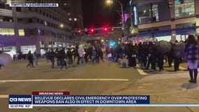 Civil emergency declared in response to dueling protests