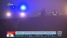 Highway reopens after driver of stolen vehicle shot, killed on SR-18 in Auburn