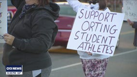 Employees of Orting School District rally to get jobs back after mass furloughs
