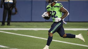 Seahawks rule out running backs Carson and Hyde for game at Buffalo