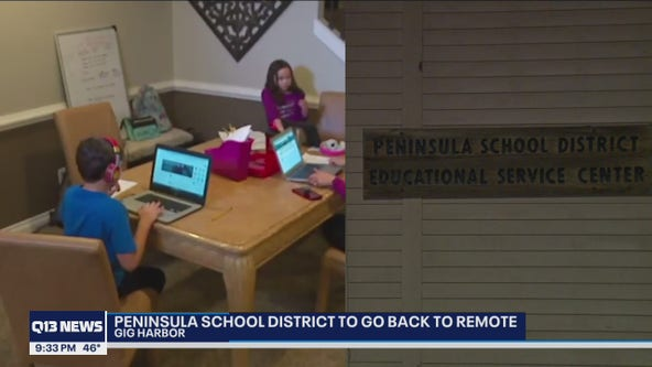 Peninsula school district to return to full remote model