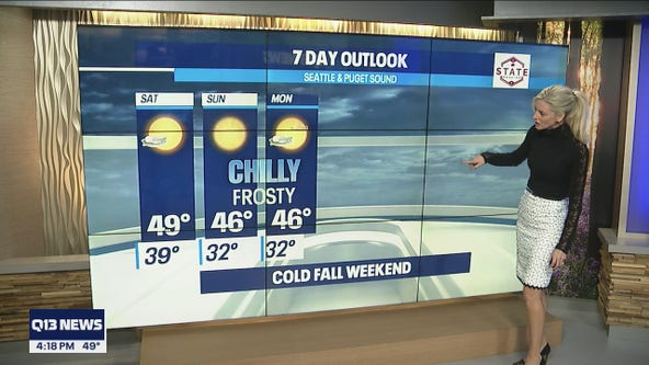 Cold weekend ahead for Pacific Northwest