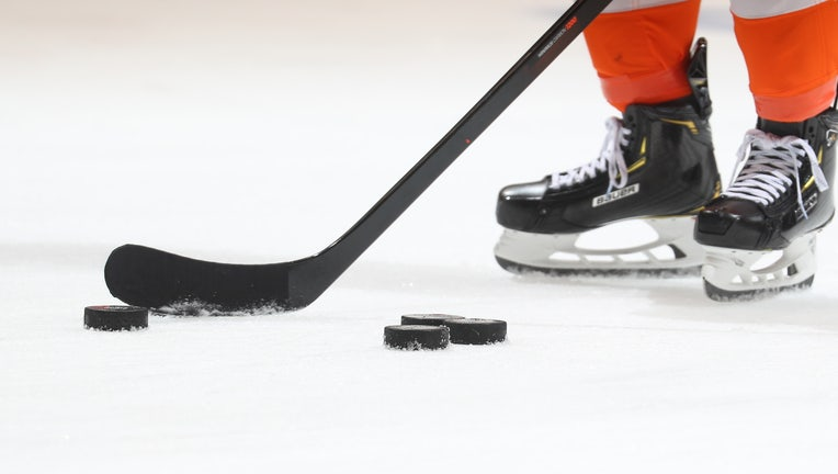 ice hockey stick puck