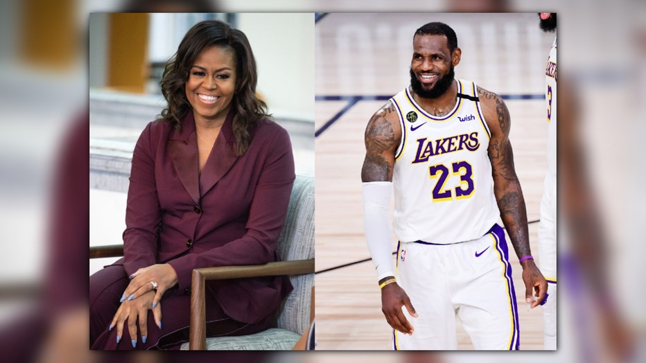 Michelle Obama LeBron James