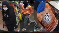 Help ID armed robbers, one wearing unique 'Dragon Ball Z' jacket, who held up gas station on Halloween night