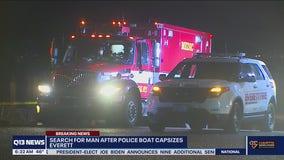Police boat capsizes near Everett