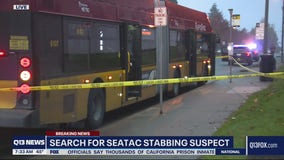 Suspect on the run after stabbing man on bus in SeaTac