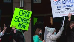 Parents rally in Bellevue calling school districts to offer option for in-person learning