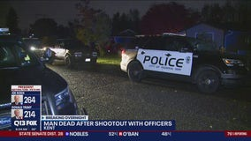 Man found dead after shootout with police.