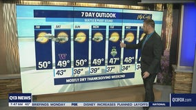 Mostly dry Thanksgiving weekend ahead