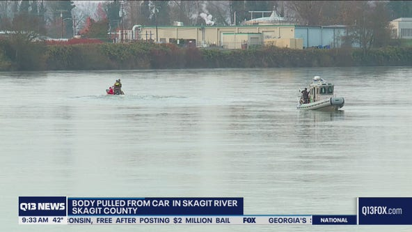 Woman found dead inside car after vehicle goes into Skagit River