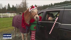 Santa greets guests at Redmond riding center