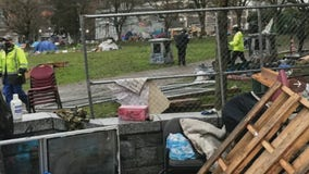 At least 24 arrests as Seattle police clear homeless camp in Cal Anderson Park