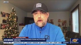 UW Football pauses team activities