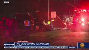 Two killed in wrong-way crash