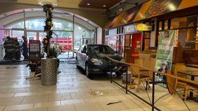 Driver crashes into Factoria Mall after medical emergency