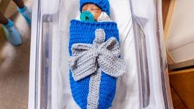 Bundles of joy: Nurse crochets Christmas gift swaddles for newborns at hospital