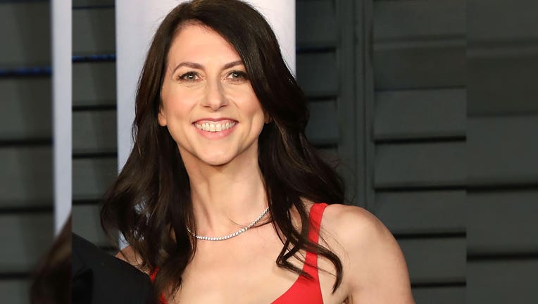 A file image shows then-MacKenzie Bezos attending the 2018 Vanity Fair Oscar Party on March 4, 2018 in Beverly Hills, California. (Photo by Taylor Hill/FilmMagic)
