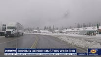 Driving conditions this weekend