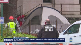 4 arrested as Bellingham began clearing homeless camp at City Hall