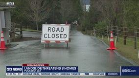 Landslide threatens eight homes
