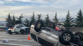 All lanes of I-5 N in downtown Seattle reopened after two vehicles rolled over