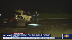 Suspect shoots at troopers during pursuit