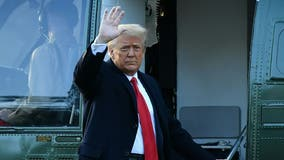 'It's been a great honor': Trump departs White House in final hours of presidency
