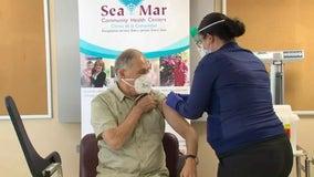 Washington Gov. Jay Inslee receives COVID-19 vaccine
