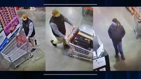 Help ID Costco computer crooks seen escaping out emergency door with expensive gaming system
