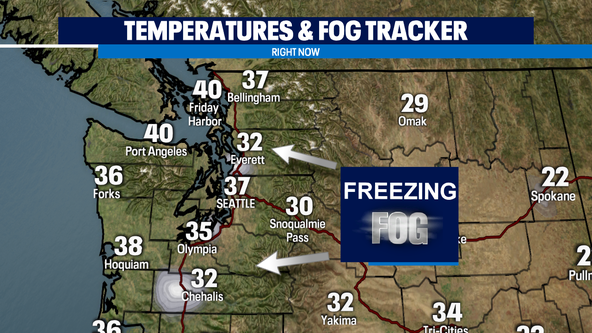 Morning freezing fog, lowland snow potential tomorrow morning