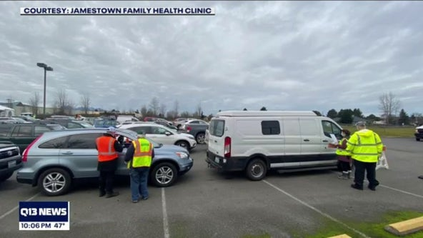 Dozens wait all night to get COVID-19 vaccine in Sequim