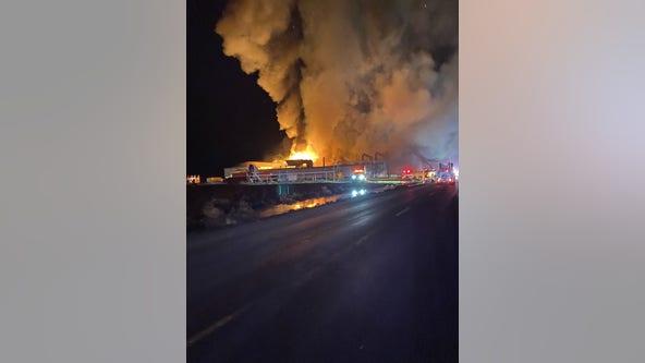 Massive fire destroys potato plant in Grant County; evacuation orders lifted