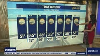 Temperatures in the mid to upper 50s this week