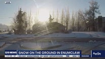 Snow on the ground in Enumclaw