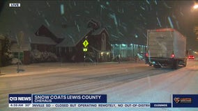 Snow coats Lewis and Thurston counties