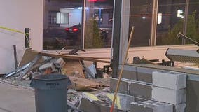 Driver crashes into Spanaway business, walks away from scene