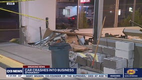 Car crashes into Spanaway business