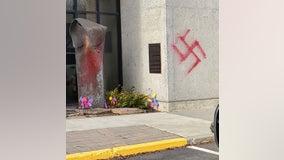 Spokane synagogue vandalized with painted swastikas