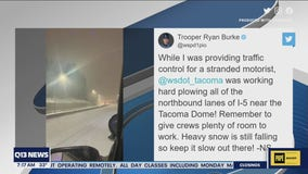 Road conditions in Pierce and Thurston counties