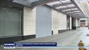 Vandals cause at least $50,000 in damage to Seattle Nordstrom display windows