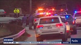 Hit and run driver causes 12 car pileup
