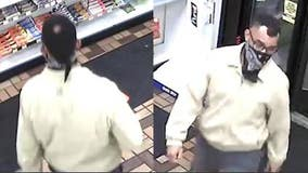 Help ID 'Bald Spot Bandit' seen using credit cards stolen from victim robbed at knifepoint