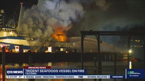 Trident Seafoods fishing vessel on fire in Port of Tacoma