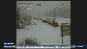 Snoqualmie Pass closed between North Bend and Ellensburg overnight