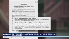 Mercer Island City Council approves public camping ban aimed at homeless