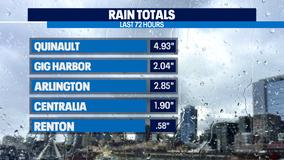 Very impressive rain totals