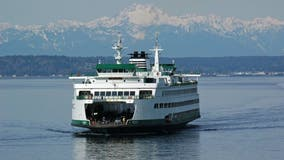 Bremerton-Seattle ferry crossing down to one boat